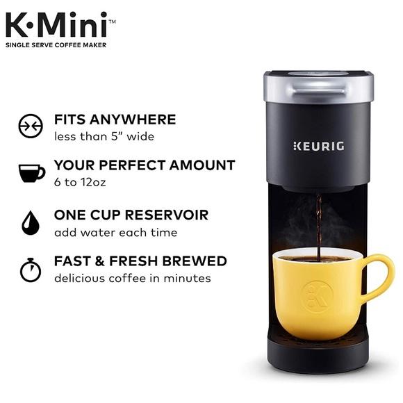 Keurig K-mini coffee pot. Single Brew. Black